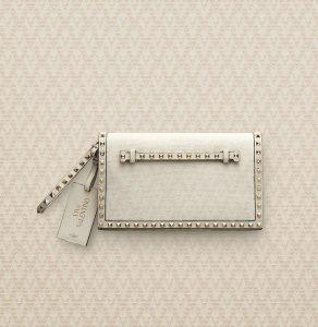 Valentino Ivory Viva Valentino Rockstud Clutch Bag