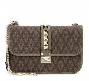 Valentino Military Green Viva Valentino Lock Flap Medium Bag