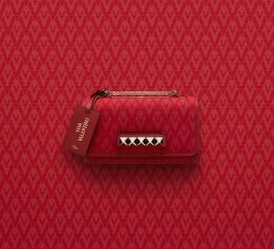 Valentino Red Viva Valentino Va Va Voom Clutch Bag