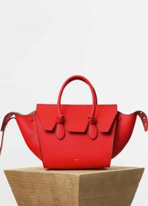 Celine Alizarin Smooth Calfskin Mini Tie Tote Bag