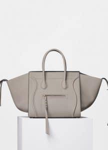 Celine Beige Supple Calfskin Medium Luggage Phantom Bag