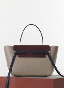 Celine Beige/Burgundy/Black Smooth Calfskin Belt Bag