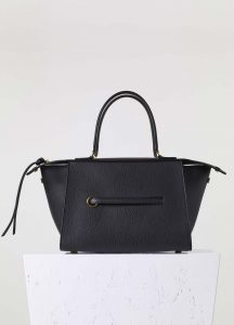 Celine Black Bullhide Small Ring Bag
