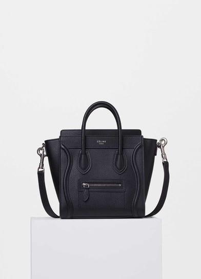 131990b30c Celine Black Drummed Calfskin Nano Luggage Bag