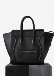 Celine Black Smooth Calfskin Mini Luggage Bag