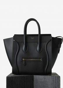 Celine Black Smooth Calfskin Mini Luggage Bag
