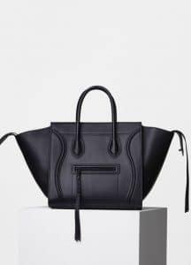 Celine Black Supple Calfskin Medium Luggage Phantom Bag