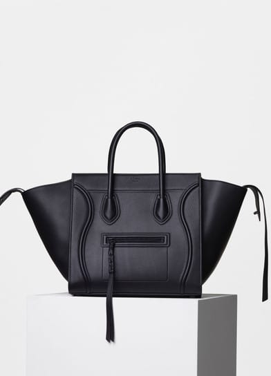 12ee506910ab Celine Black Supple Calfskin Medium Luggage Phantom Bag