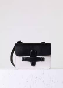 Celine Black/White Symmetrical Medium Bag