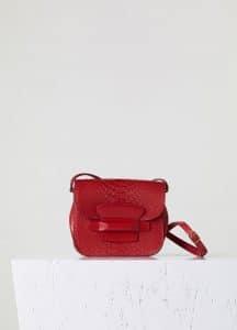 Celine Bright Red Python Small Tab Bag