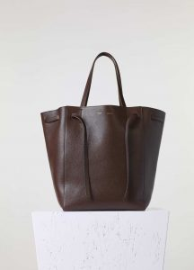 Celine Brown Phantom Cabas with Belt Medium Bag