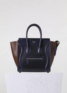 Celine Brown/Blue/Black Calfskin:Palmelato Micro Luggage Bag