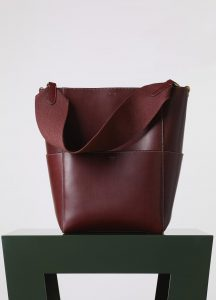 Celine Burgundy Sangle Seau Bag