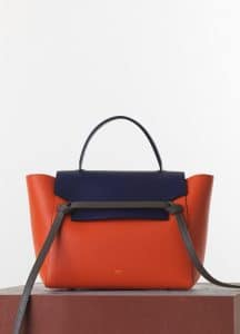 Celine Burnt Orange/Indigo/Grey Smooth Calfskin Belt Bag