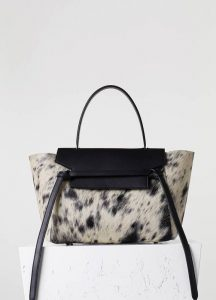 Celine Calf Hair Spotted Belt Tote Bag - Fall 2015