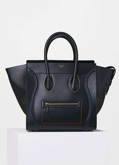 Celine Calfskin With Double Sching Mini Luggage Bag
