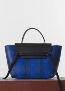 Celine Indigo Python Mini Belt Bag