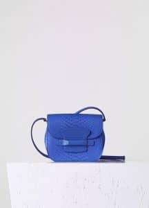 Celine Indigo Python Small Tab Bag