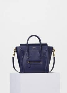 Celine Ink Smooth Calfskin Nano Luggage Bag