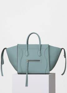 Celine Jade Baby Grained Calfskin Medium Luggage Phantom Bag
