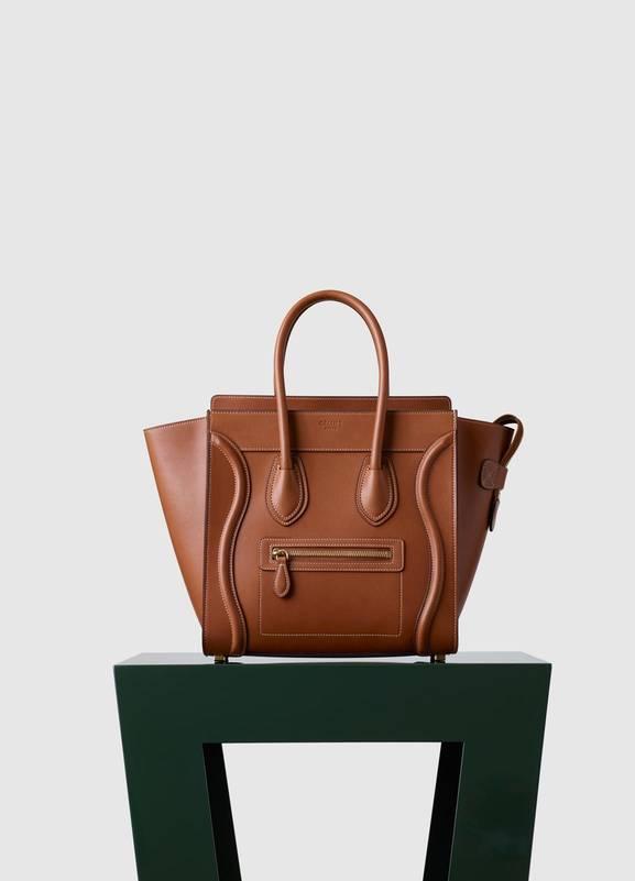 Celine Micro Luggage Tan Natural Calfskin Bag Fall 2017