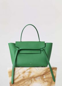 Celine Mint Mini Belt Tote Bag