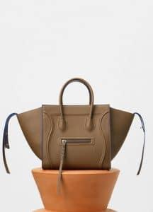 Celine Moss Green Baby Grained Calfskin Medium Luggage Phantom Bag