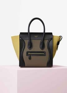Celine Multicolor Baby Grained Calfskin and Nubuck Micro Luggage Bag