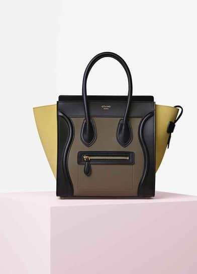 celine multicolour leather handbag ring