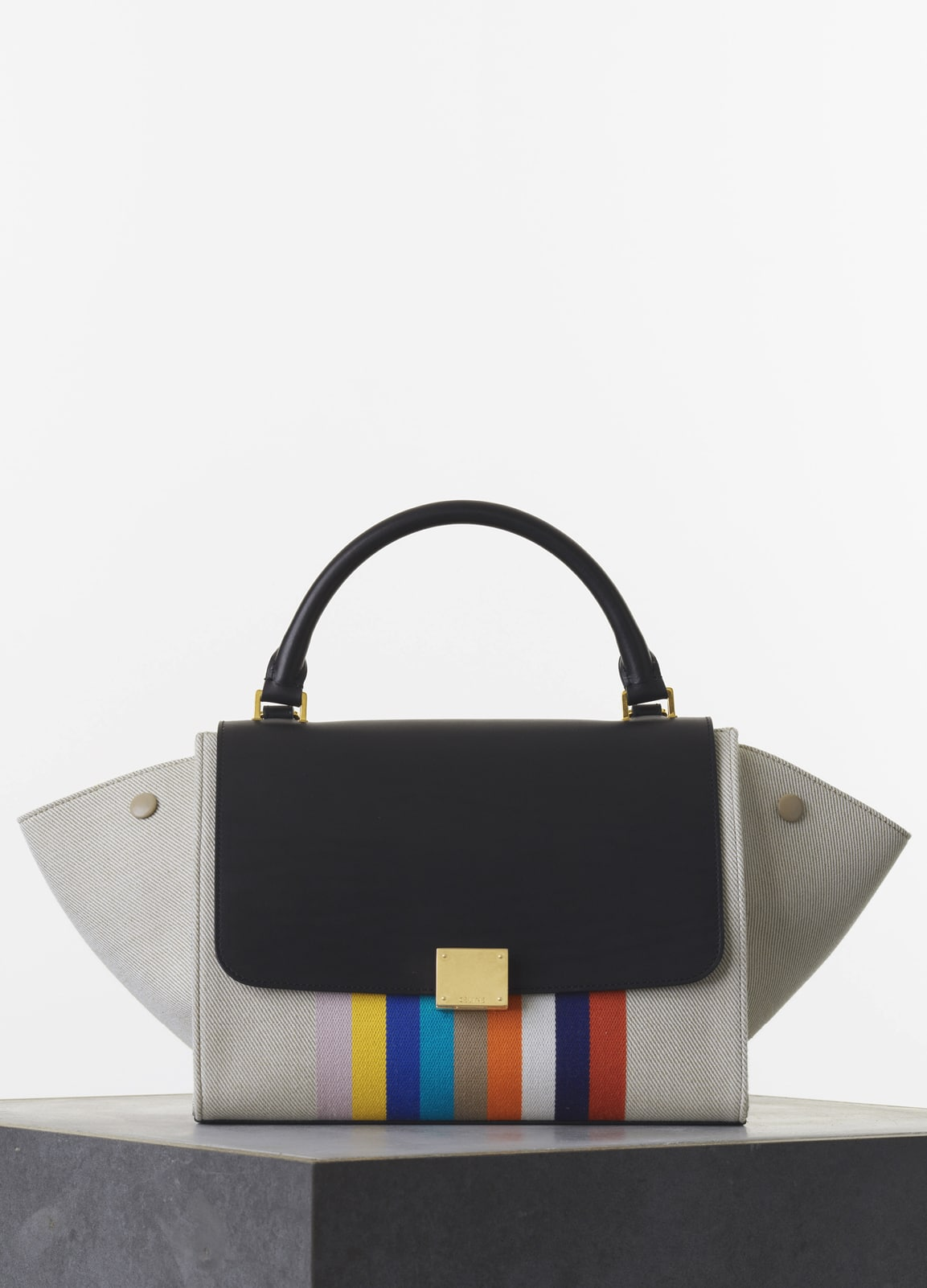 celine pouch clutch - MICRO LUGGAGE HANDBAG IN MULTICOLOUR TEXTILE