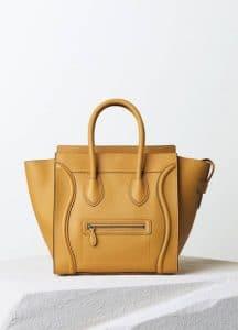 Celine Ochre Drummed Calfskin Mini Luggage Bag