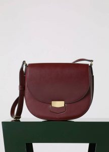 Celine Oxblood Medium Trotteur Messenger Bag - Fall 2015