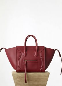 Celine Red Calfskin Phantom Medium Bag