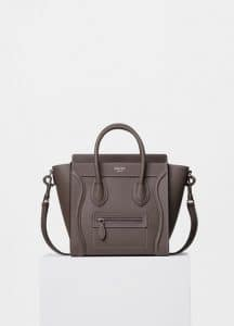 Celine Souris Drummed Calfskin Nano Luggage Bag