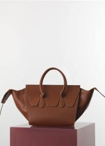 Celine Tan Natural Calfskin Mini Tie Tote Bag