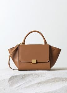 Celine Tan Natural Calfskin Trapeze Small Bag