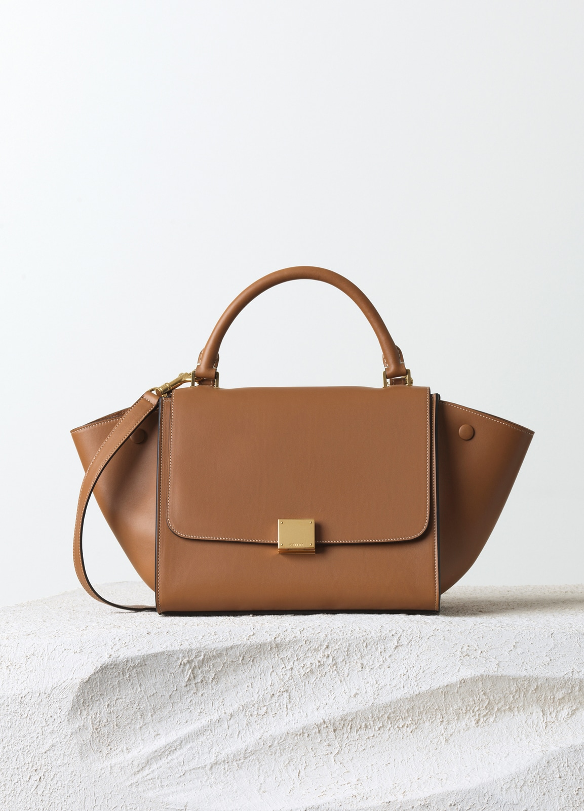 Celine Tan Natural Calfskin Tze Small Bag