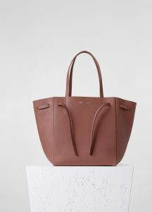 Celine Terracota Phantom Cabas with Belt Small Bag