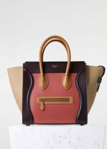 Celine Terracotta Elephant Calfskin Mini Luggage Bag