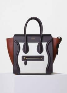 Celine Tri-Color Smooth Calfskin Micro Luggage Bag