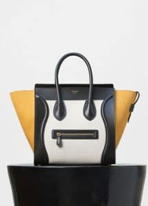 Celine Tri-color Baby Grained Calfskin/Nubuck Mini Luggage Bag