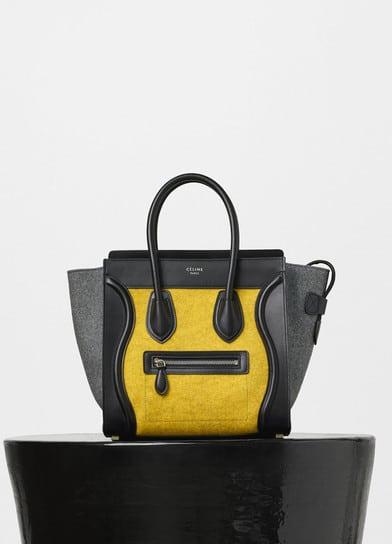 1d8ec2018c Celine Tri-color Felt and Lambskin Micro Luggage Bag