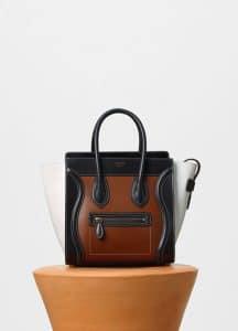Celine Tri-color Glazed Calfskin Micro Luggage Bag