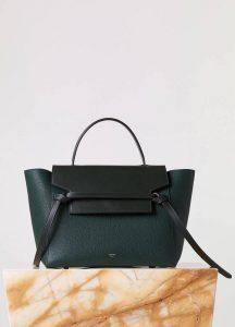 Celine Vert Fonce Belt Tote Bag - Fall 2015