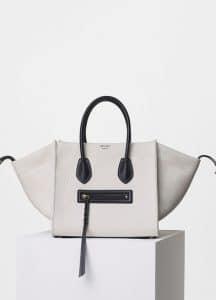 Celine White Washed Canvas Medium Luggage Phantom Bag