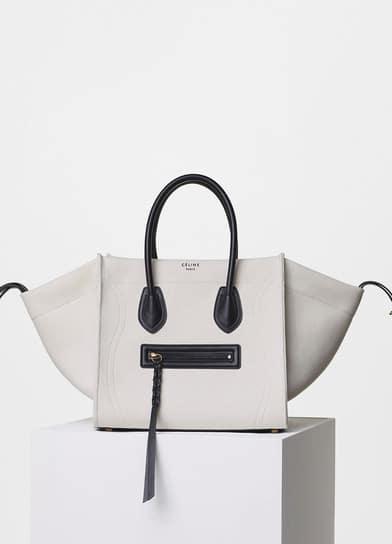 63a41fc12c3c Celine White Washed Canvas Medium Luggage Phantom Bag