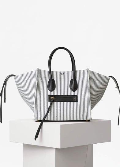 0bad56f06fea Celine White and Navy Textile Medium Luggage Phantom Bag