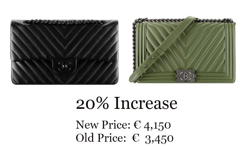 Chanel Bag Classic and Boy Price Increase 2015