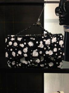 Chanel Black/White Paint Splatter Print Classic Flap Bag 1