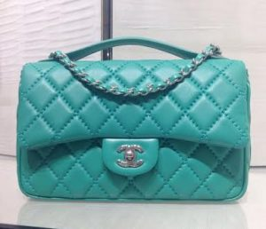 Chanel Green Easy Carry Medium Bag